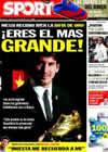 Portada diario Sport del 1 de Octubre de 2010