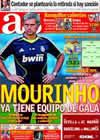 Portada diario AS del 3 de Octubre de 2010