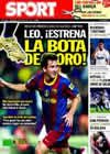 Portada diario Sport del 3 de Octubre de 2010