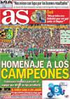 Portada diario AS del 8 de Octubre de 2010