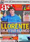Portada diario AS del 10 de Octubre de 2010