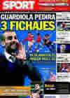 Portada diario Sport del 12 de Octubre de 2010