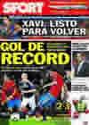 Portada diario Sport del 13 de Octubre de 2010