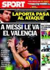 Portada diario Sport del 15 de Octubre de 2010