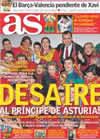 Portada diario AS del 16 de Octubre de 2010