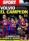 Portada diario Sport del 17 de Octubre de 2010