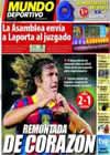 Portada Mundo Deportivo del 17 de Octubre de 2010