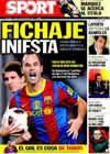 Portada diario Sport del 18 de Octubre de 2010