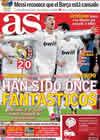 Portada diario AS del 20 de Octubre de 2010
