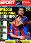 Portada diario Sport del 21 de Octubre de 2010