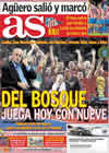 Portada diario AS del 22 de Octubre de 2010