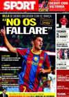 Portada diario Sport del 22 de Octubre de 2010