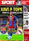 Portada diario Sport del 28 de Octubre de 2010