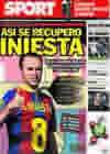 Portada diario Sport del 29 de Octubre de 2010