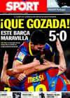 Portada diario Sport del 31 de Octubre de 2010
