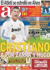 Portada diario AS del 1 de Noviembre de 2010