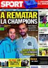Portada diario Sport del 2 de Noviembre de 2010