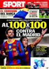 Portada diario Sport del 5 de Noviembre de 2010