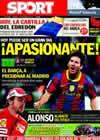 Portada diario Sport del 7 de Noviembre de 2010