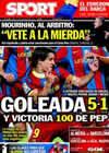 Portada diario Sport del 11 de Noviembre de 2010