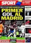 Portada diario Sport del 12 de Noviembre de 2010