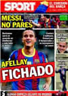 Portada diario Sport del 13 de Noviembre de 2010