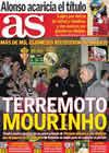 Portada diario AS del 14 de Noviembre de 2010