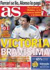 Portada diario AS del 15 de Noviembre de 2010
