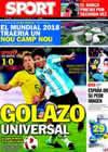 Portada diario Sport del 18 de Noviembre de 2010