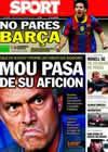 Portada diario Sport del 20 de Noviembre de 2010