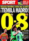Portada diario Sport del 21 de Noviembre de 2010