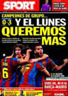 Portada diario Sport del 25 de Noviembre de 2010