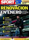 Portada diario Sport del 2 de Diciembre de 2010