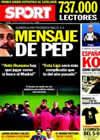 Portada diario Sport del 3 de Diciembre de 2010