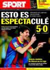 Portada diario Sport del 13 de Diciembre de 2010