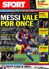 Portada diario Sport del 16 de Diciembre de 2010