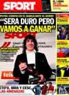 Portada diario Sport del 17 de Diciembre de 2010
