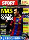 Portada diario Sport del 18 de Diciembre de 2010