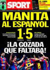 Portada diario Sport del 19 de Diciembre de 2010