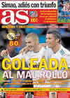 Portada diario AS del 23 de Diciembre de 2010