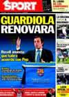 Portada diario Sport del 23 de Diciembre de 2010