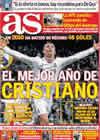 Portada diario AS del 28 de Diciembre de 2010