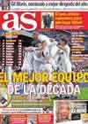 Portada diario AS del 29 de Diciembre de 2010