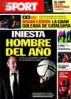 Portada diario Sport del 29 de Diciembre de 2010