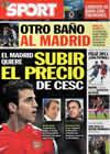 Portada diario Sport del 31 de Diciembre de 2010