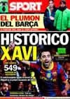 Portada diario Sport del 2 de Enero de 2011