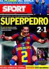 Portada diario Sport del 3 de Enero de 2011