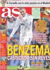 Portada diario AS del 6 de Enero de 2011