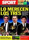 Portada diario Sport del 10 de Enero de 2011