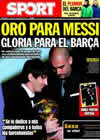Portada diario Sport del 11 de Enero de 2011